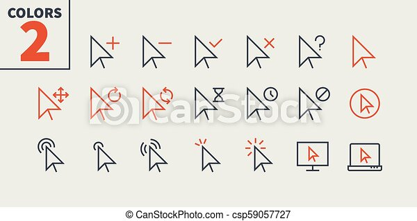 Selection & Cursors UI Pixel Perfect Well-crafted Vector Thin Line Icons  48x48 Ready for 24x24 Grid for Web Graphics and Apps with Editable Stroke