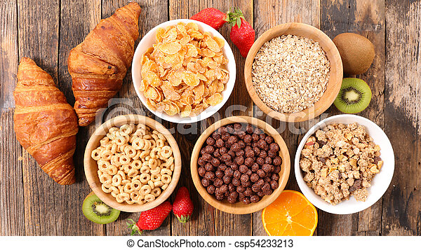 selection of cereal breakfast - csp54233213