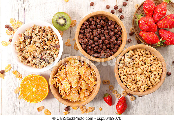 selection of cereal breakfast - csp56499078