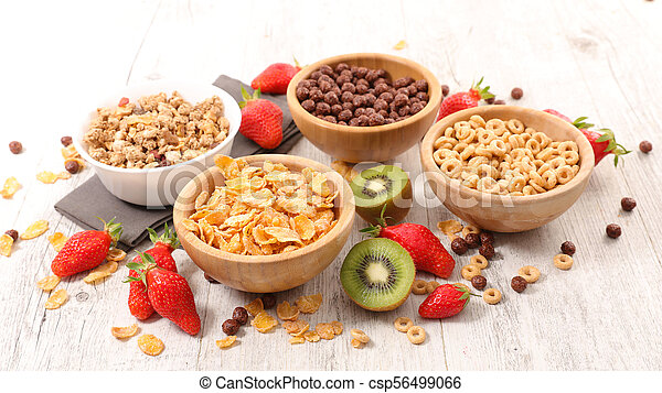 selection of cereal breakfast - csp56499066