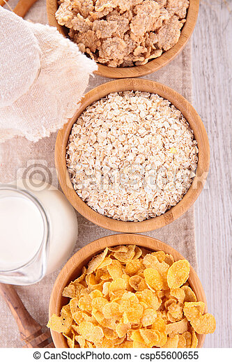 selection of cereal breakfast - csp55600655
