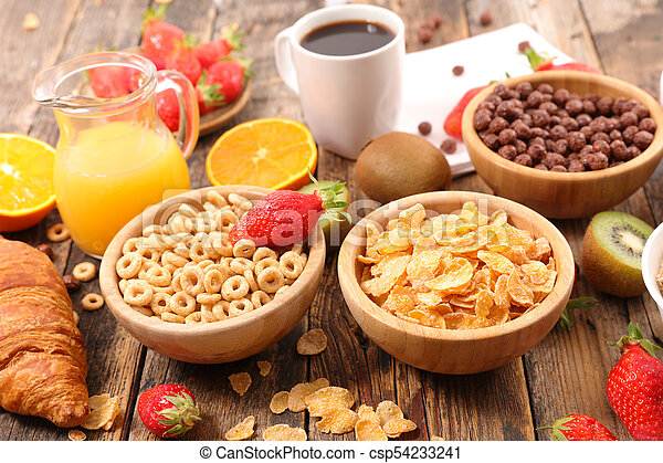 selection of cereal breakfast - csp54233241