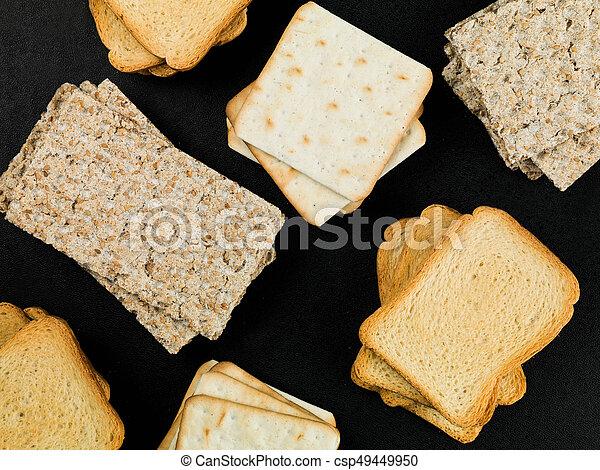 Selection of Healthy Crispy Crackers - csp49449950