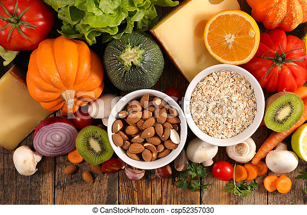 selection of healthy eating - csp52357030