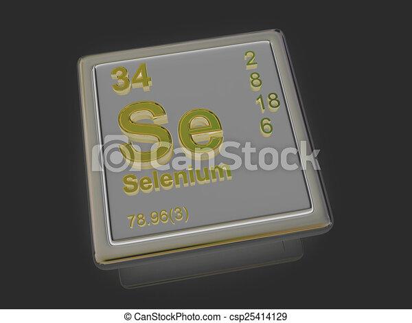 Selenium Chemical Element 3d