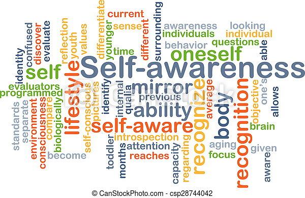 Self-awareness background concept - csp28744042