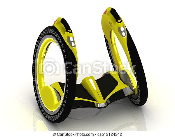 Self-balancing electric scooter  - csp13124342