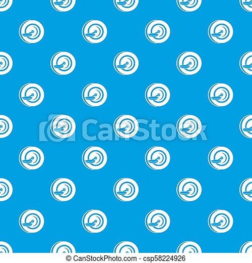 Self balancing wheel pattern seamless blue - csp58224926