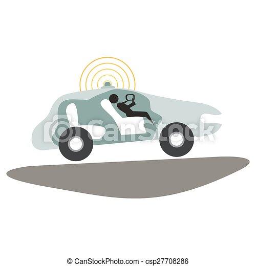 self driving car icon an image of a autonomous self driving vector search clip art. Black Bedroom Furniture Sets. Home Design Ideas
