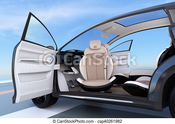 self driving suv interior concept front seats can rotate in stock illustration search eps. Black Bedroom Furniture Sets. Home Design Ideas