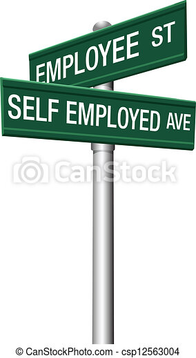 self employed or employee street signs self employed freelance or rh canstockphoto com sesame street sign clipart street sign clipart blank