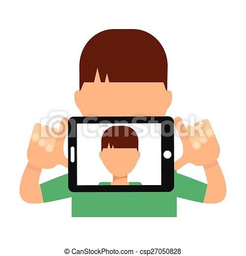 selfie, concept - csp27050828
