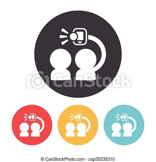 selfie icon - csp35235310