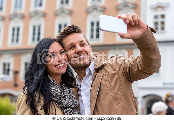selfie, par - csp23539769