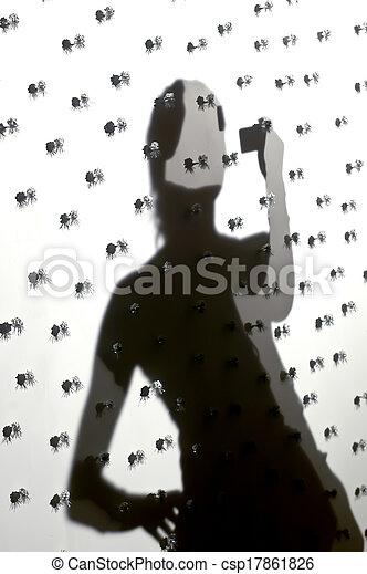selfie, silhouette - csp17861826