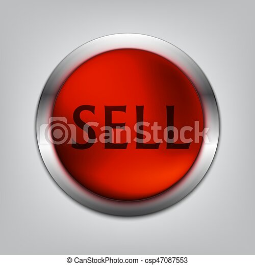 Sell Red Button Realistic - csp47087553
