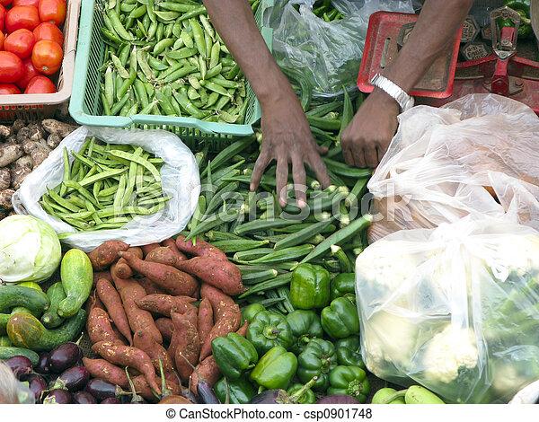 Selling Fresh Vegetable - csp0901748