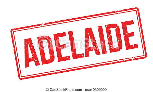 Un sello de goma Adelaide - csp40309009