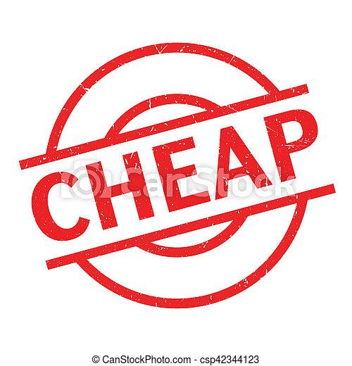 Un sello barato de goma - csp42344123