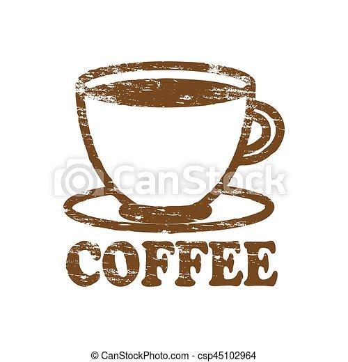 Cafe de goma - csp45102964