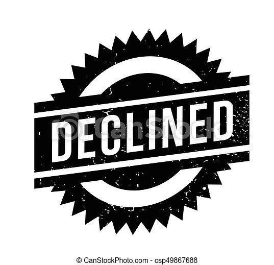 Un sello de goma rechazado - csp49867688