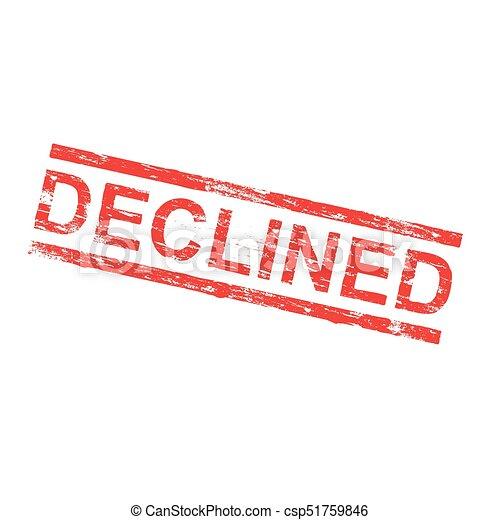 Un sello de goma rechazado - csp51759846
