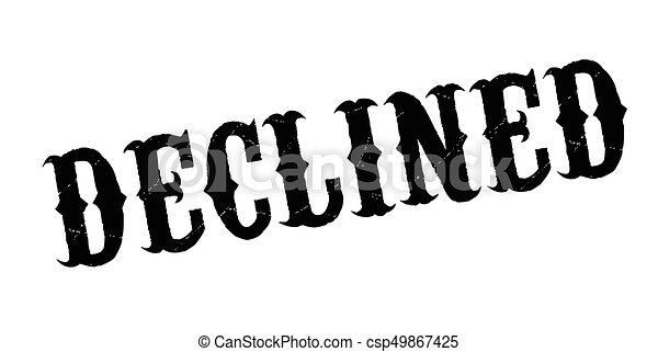 Un sello de goma rechazado - csp49867425