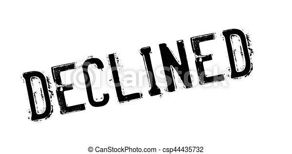 Un sello de goma rechazado - csp44435732
