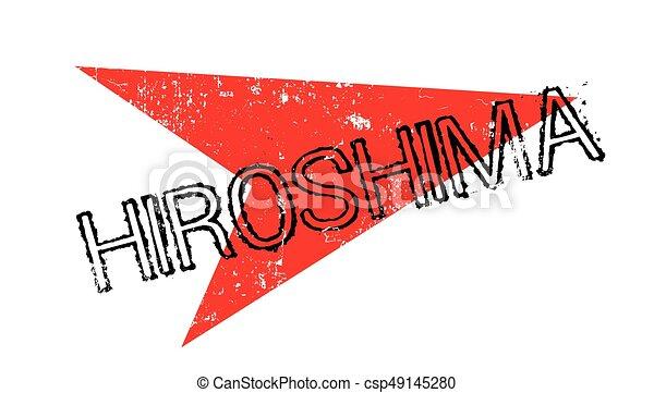 Un sello de goma de Hiroshima - csp49145280