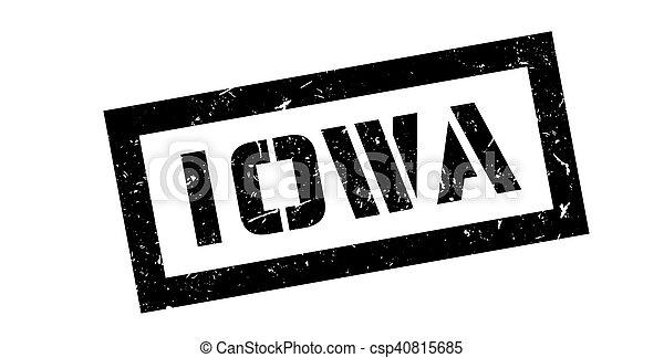 Un sello de goma de Iowa - csp40815685