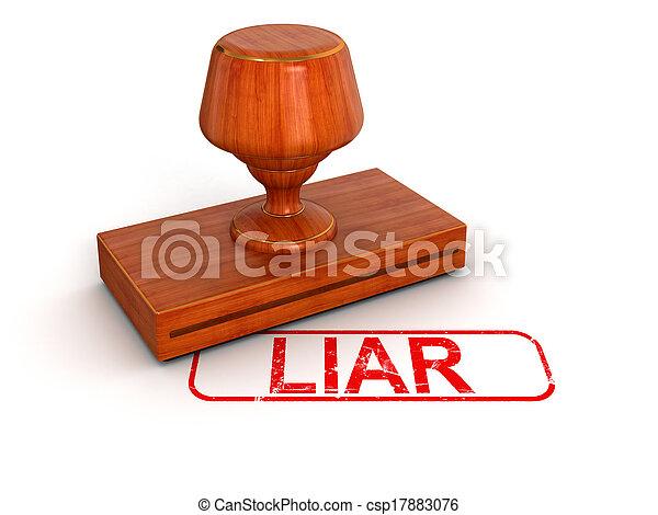 sello de goma, mentiroso - csp17883076