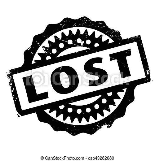 Un sello de goma perdido - csp43282680