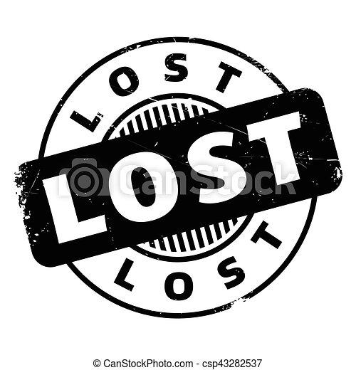 Un sello de goma perdido - csp43282537