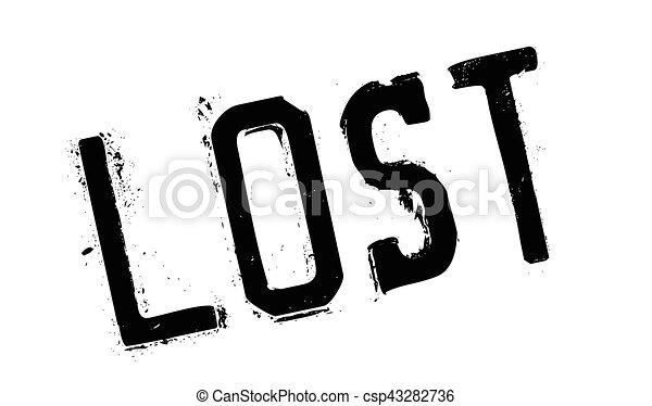 Un sello de goma perdido - csp43282736