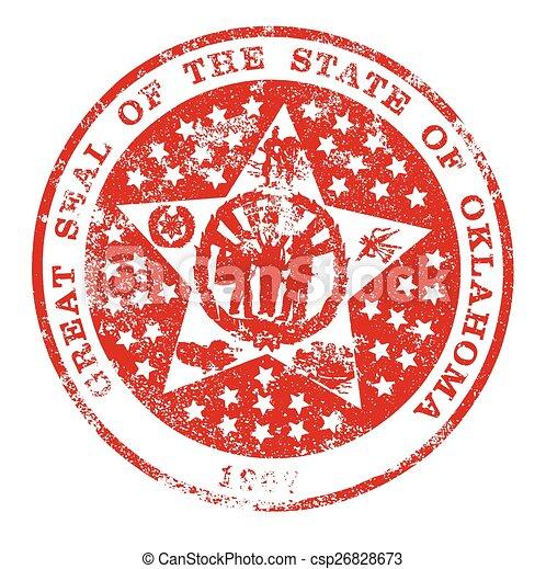 El sello de goma de Oklahoma - csp26828673