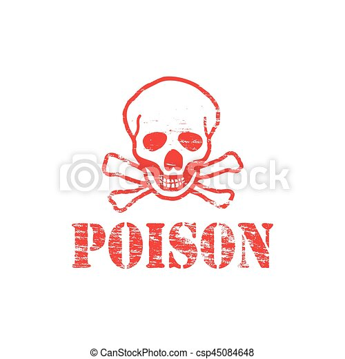Un sello de goma venenoso - csp45084648