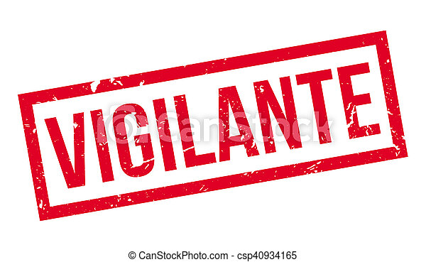 Un sello de goma vigilante - csp40934165