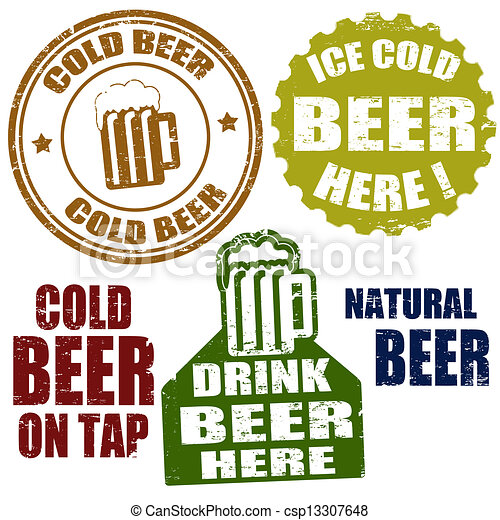 Estampillas de cerveza frías - csp13307648