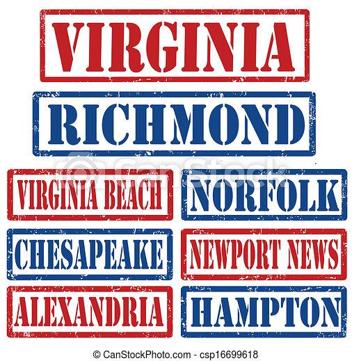 Estampillas de Virginia City - csp16699618
