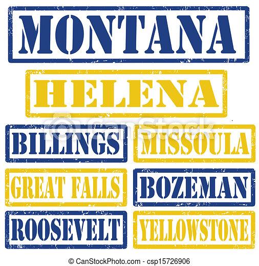 Los sellos de Montana - csp15726906