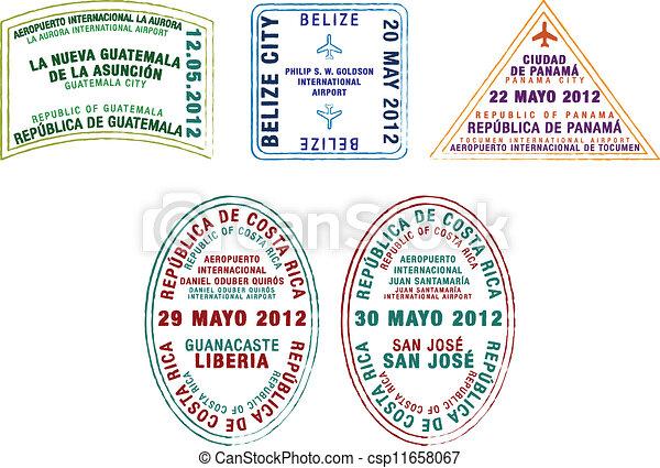 sellos, pasaporte - csp11658067
