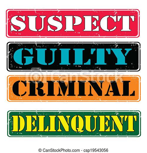 Sellos sospechosos - csp19543056