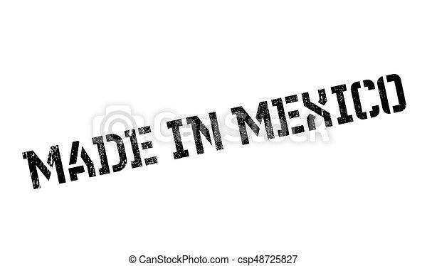 selo borracha, feito, méxico - csp48725827