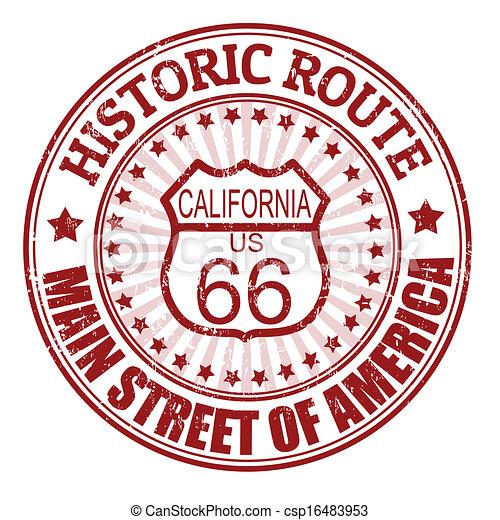 selo, califórnia, rota 66, histórico - csp16483953