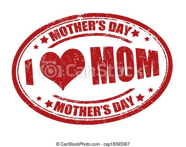 selo, dia, mãe - csp18393367