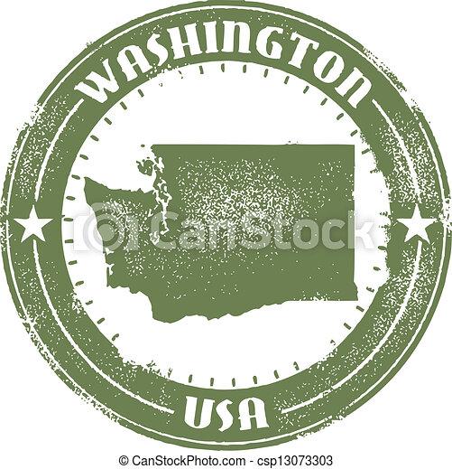selo, estado, washington - csp13073303
