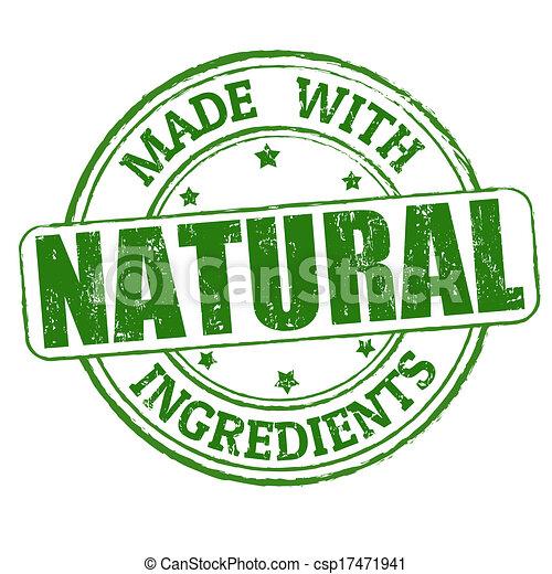 selo, feito, natural, ingredientes - csp17471941