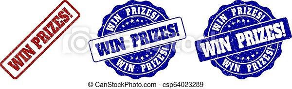 selo, ganhe, prizes!, grunge, selos - csp64023289