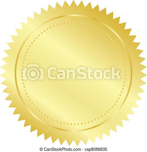 selo ouro - csp8086835