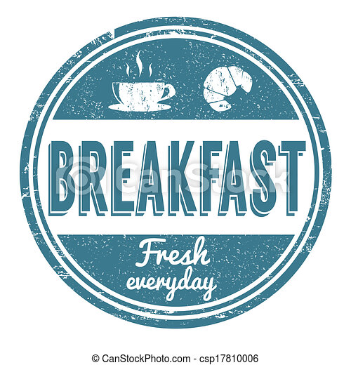 selo, pequeno almoço - csp17810006